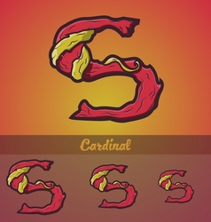 Halloween decorative alphabet - S letter vector image vector image