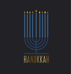 luxury minimalistic style hanukkah menora Juish vector image vector image