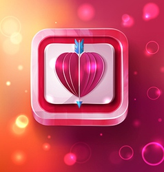 Valentines day card with arrow vector
