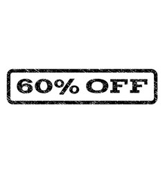 60 percent off watermark stamp vector image vector image