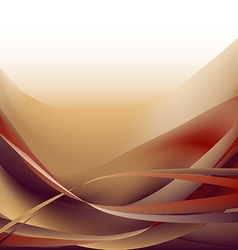 Colorful waves isolated abstract background ocher vector image