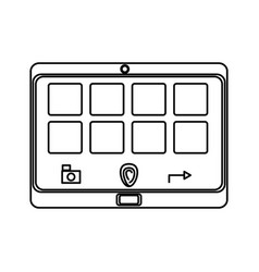 isolated smart tablet vector image