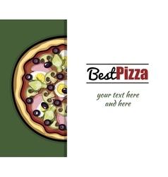 Menu For Pizzeria 5 vector image