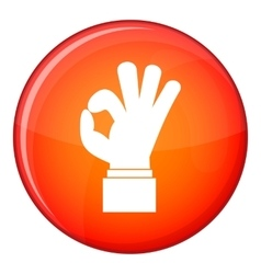 Ok gesture icon flat style vector image