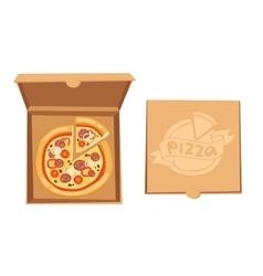 Pizza box vector image vector image