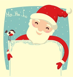 Santa Claus card for text vector image
