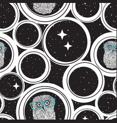 seamless pattern with abstract circles and cute vector image vector image