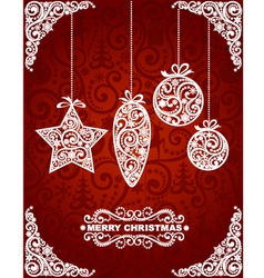 Abstract Christmas Toys vector image