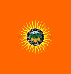 flag of orange county california usa vector image