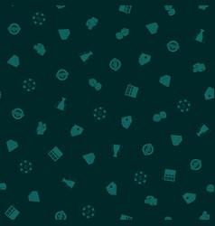 gambling hand drawn seamless pattern background vector image