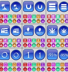 Palm magnet apps lock party marijuana zero one vector