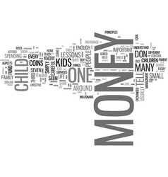 what to tell your kids about money the essential vector image vector image