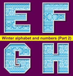 winter abc 02 vector image vector image