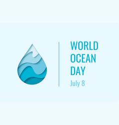 world ocean day - concept vector image