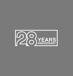 28 years anniversary logotype with white color vector
