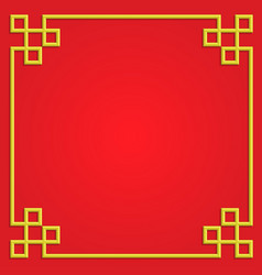 3d golden frame on red background border card vector image