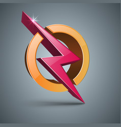 3d lighting - realistic icon vector image
