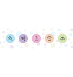 5 collection icons vector
