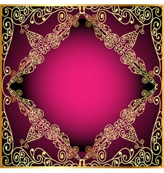 A background a frame with a gold ornament vector