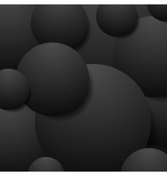 Abstract black circles tech background vector image