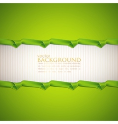 abstract green background with ribbons vector image
