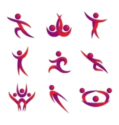 Abstract people silhouette icon vector image