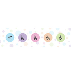 Accessibility icons vector