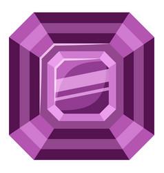 Amethyst stone icon cartoon style vector