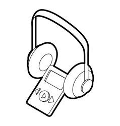 Audio guide icon outline style vector