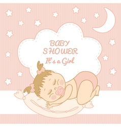 Baby Shower It is a girl vector image