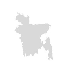 bangladesh map icon dhaka country vector image