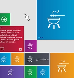Barbecue icon sign buttons modern interface vector