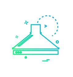 beaker icon design vector image