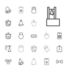 Bell icons vector