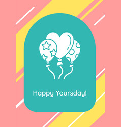 Birthday wishes for best friend greeting card vector