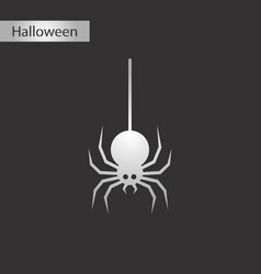 Black and white style icon halloween spider vector
