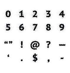 Black Ink Grunge Symbols vector