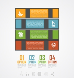 books stack infographic vector image