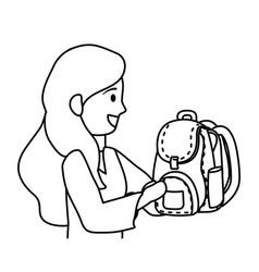 Boy kid school with mother design vector