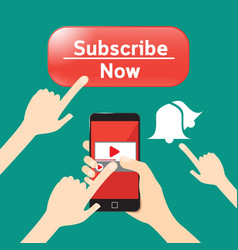 button subscribe and news feed important to vector image