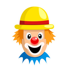 Cartoon clown face vector