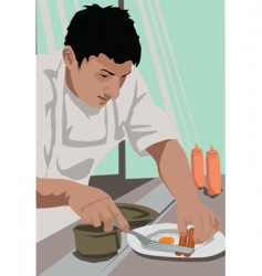 chef breakfast vector image