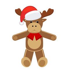 christmas animal deer cartoon vector image