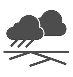 cloud of rain and field solid icon rain under vector image