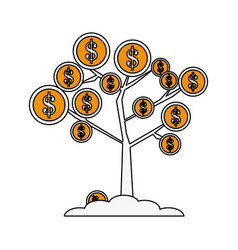 coins tree vector image
