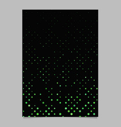 color dot pattern brochure template - page vector image