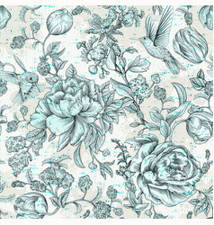 colorful seamless floral pattern flowers vector image