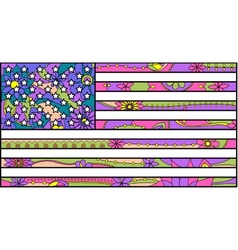 Colorful Usa flag vector image