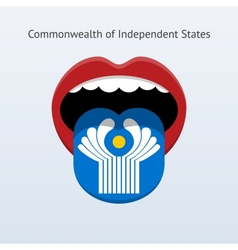 Commonwealth independent states language vector