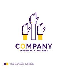 Company name logo design for aspiration business vector